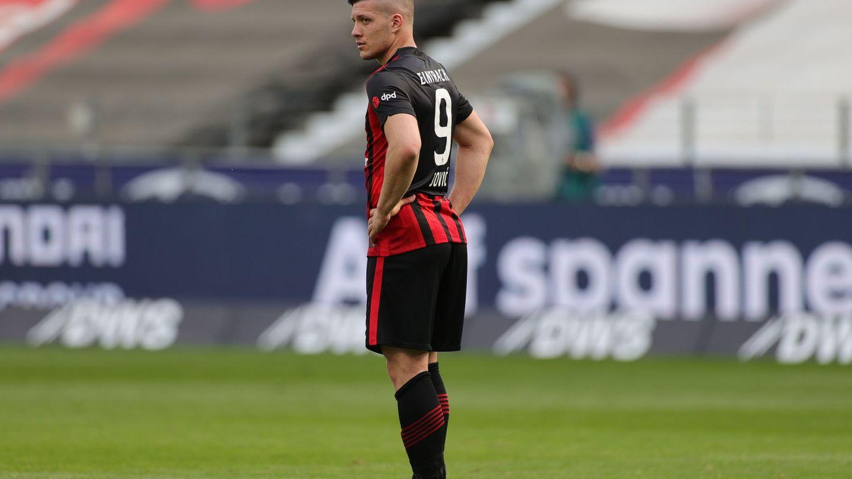 Luka Jovic acabó la pasada temporada cedido en el Eintracht de Frankfurt. (EFE)