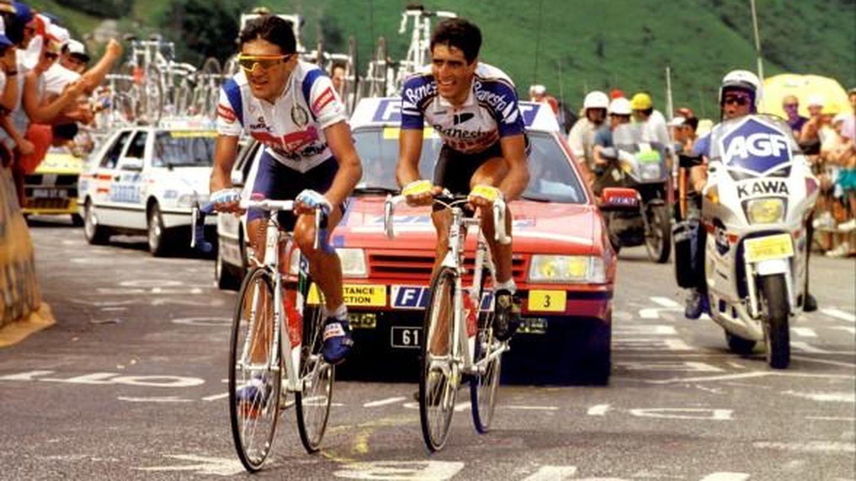 Miguel Indurain y Claudio Chiappucci, en el Tour de Francia. (Imagen de archivo)