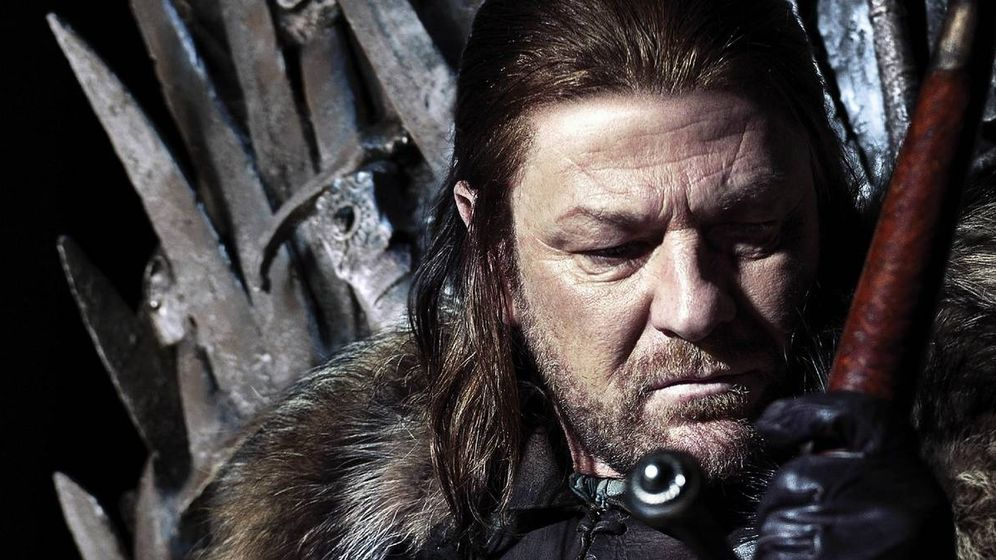 Foto: Ned Stark, en el Trono de Hierro. (HBO)