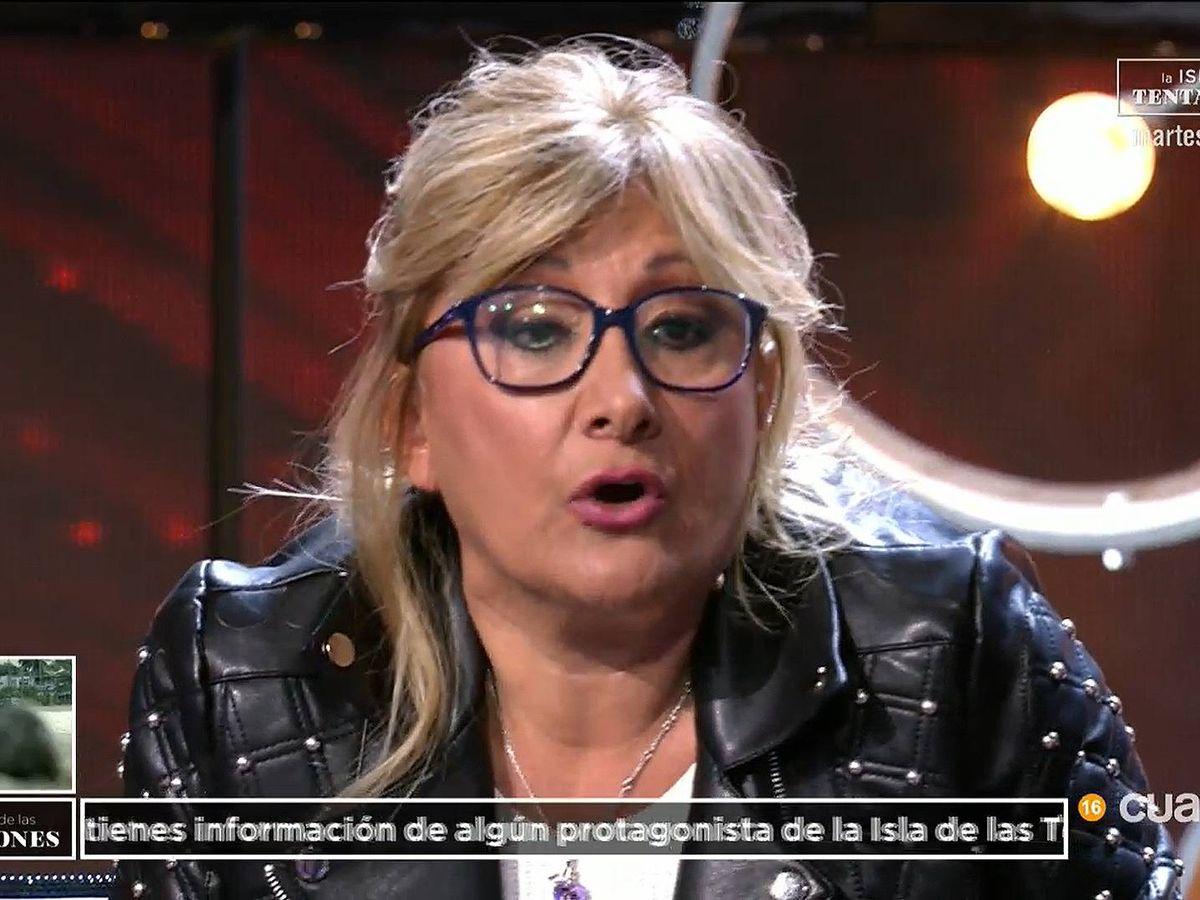 Foto: Mayte, tía de Fani, en 'El debate de las tentaciones'. (Cuatro)