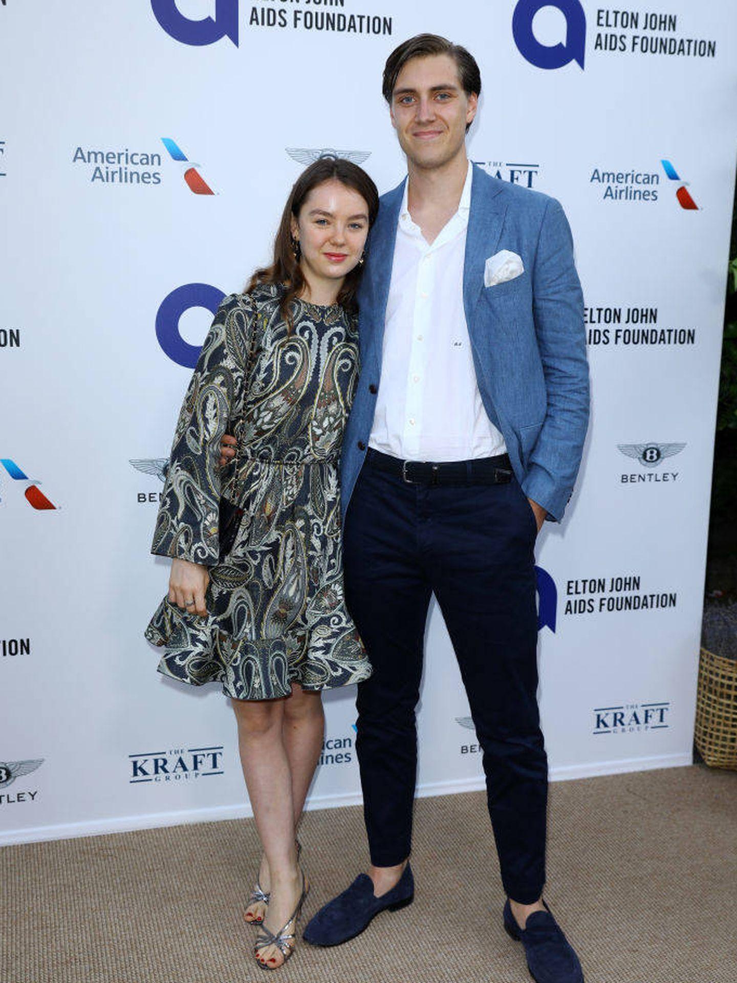 Alexandra de Hannover y Ben Sylvester-Strautmann en la fiesta organizada por Elton John. (Getty)
