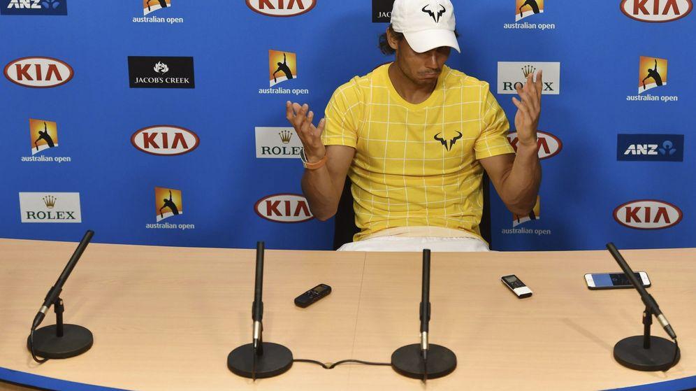 Foto: Rafa Nadal en la rueda de prensa tras su derrota ante Verdasco.