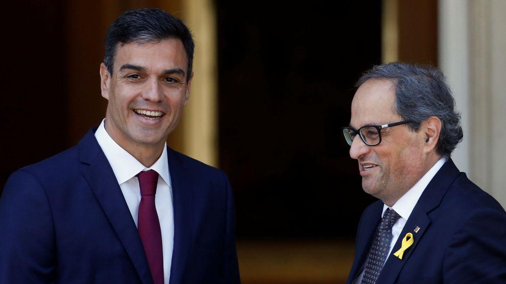 Foto: Pedro Sánchez y Quim Torra, en su encuentro en Moncloa en julio. (Reuters)