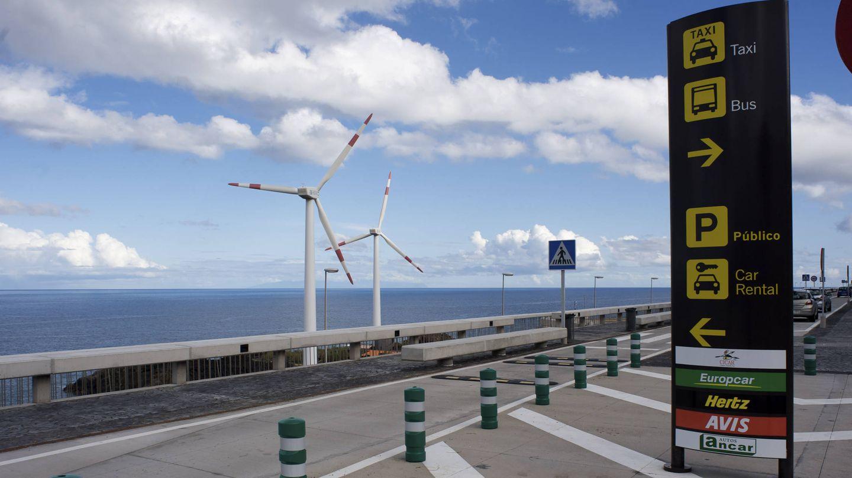 Aerogeneradores del Aeropuerto de La Palma.