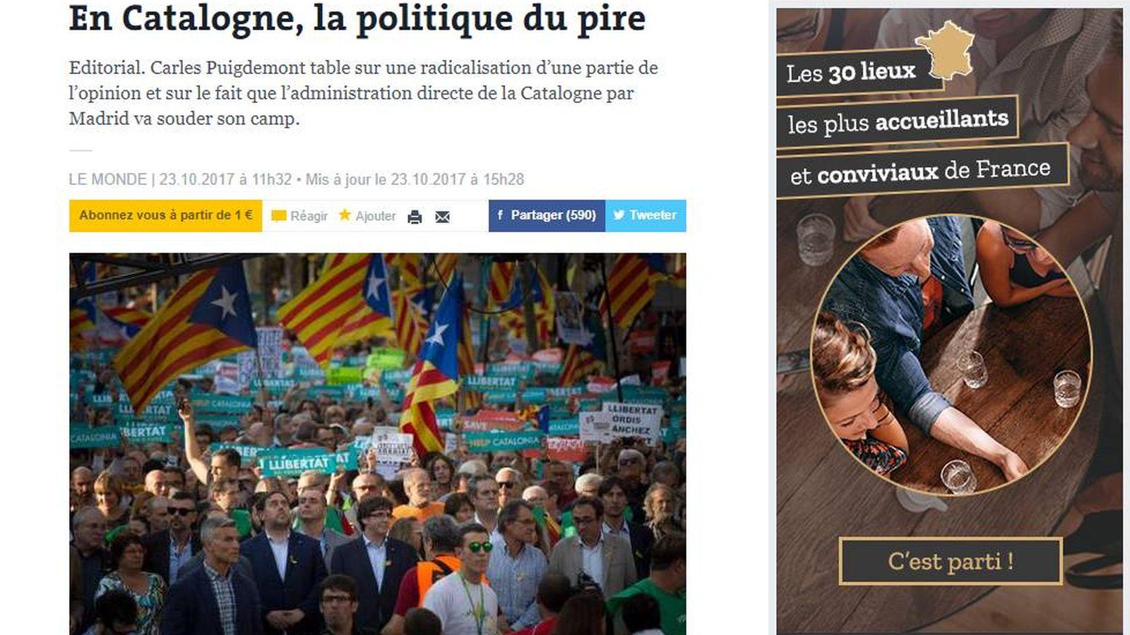 Foto: Editorial de 'Le Monde'.