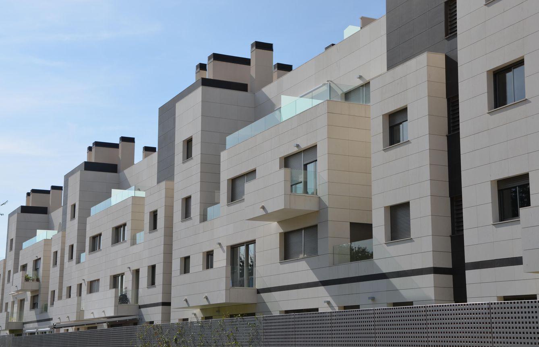 Foto: Promoción de viviendas en Aravaca. Foto: Elena Sanz.