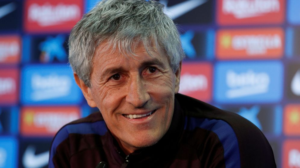 Foto: Quique Setién debutará este domingo como entrenador del FC Barcelona. (Reuters)