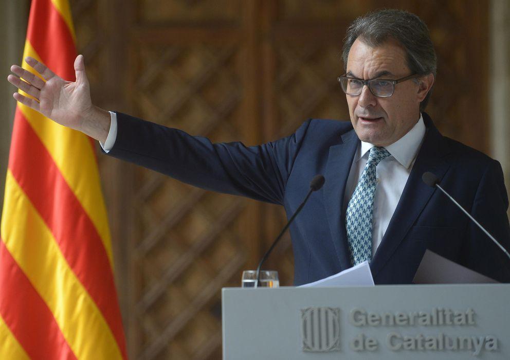 Foto: El presidente de la Generalitar, Artur Mas, durante la comparecencia de hoy (GTres)