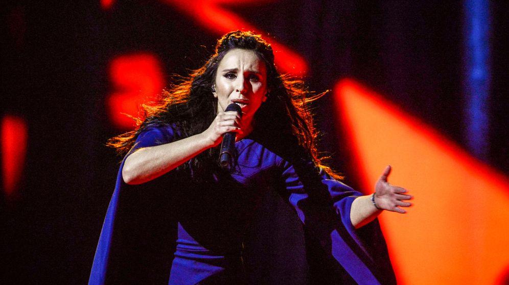 Foto: Jamala durante su actuación que ganó el pasado Eurovisión