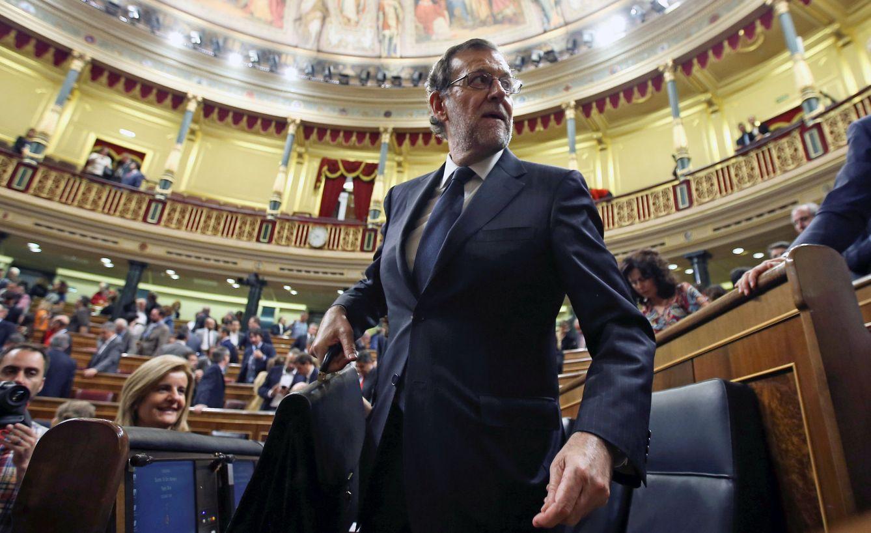 Mariano Rajoy durante la segunda jornada del debate de investidura. (Reuters)