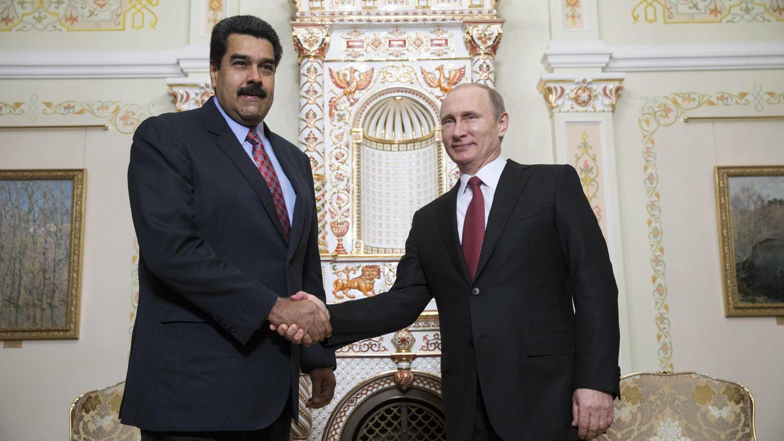 Foto: El presidente Nicolás Maduro con el ruso Vladimir Putin en Moscú, en 2015. (Reuters)