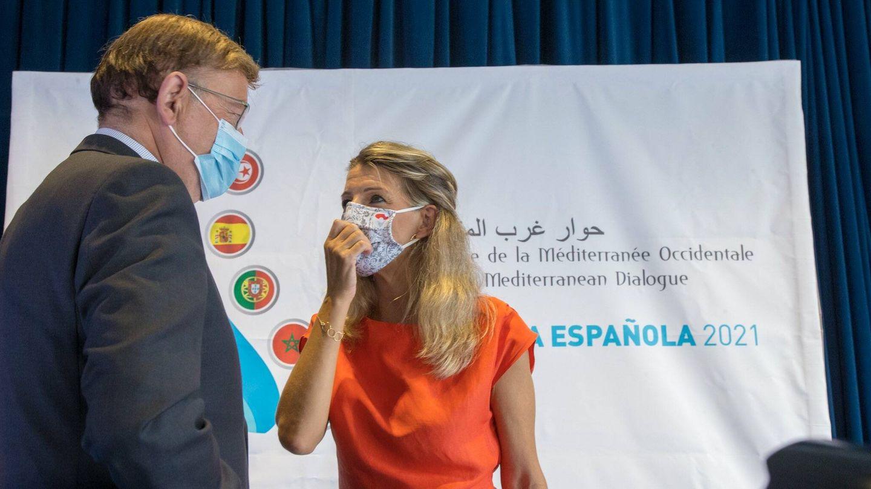 Yolanda Díaz y Ximo Puig, en Alicante.