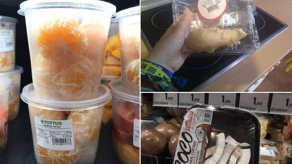 ¿Por qué les ponen plástico si ya tienen piel? Los envases de fruta más absurdos