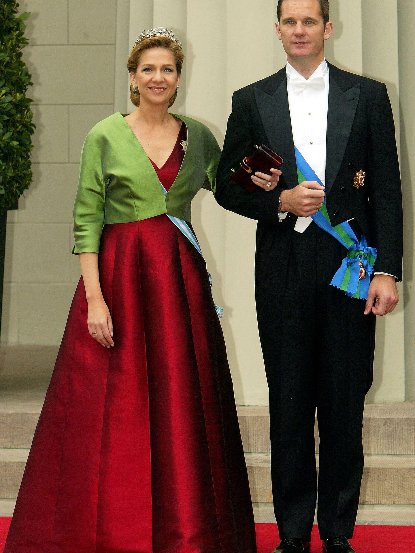 La infanta Cristina e Iñaki Urdangarin, en Copenhague. (Getty)
