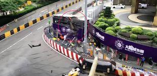 Post de Escalofriante accidente en Macao: un monoplaza vuela en la Fórmula 3