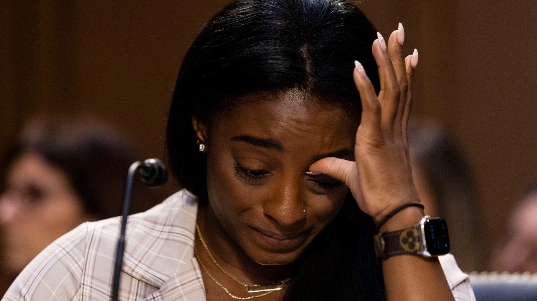 Simone Biles, durante su comparecencia ante el Senado de EEUU. (Reuters/Graeme Jennings)