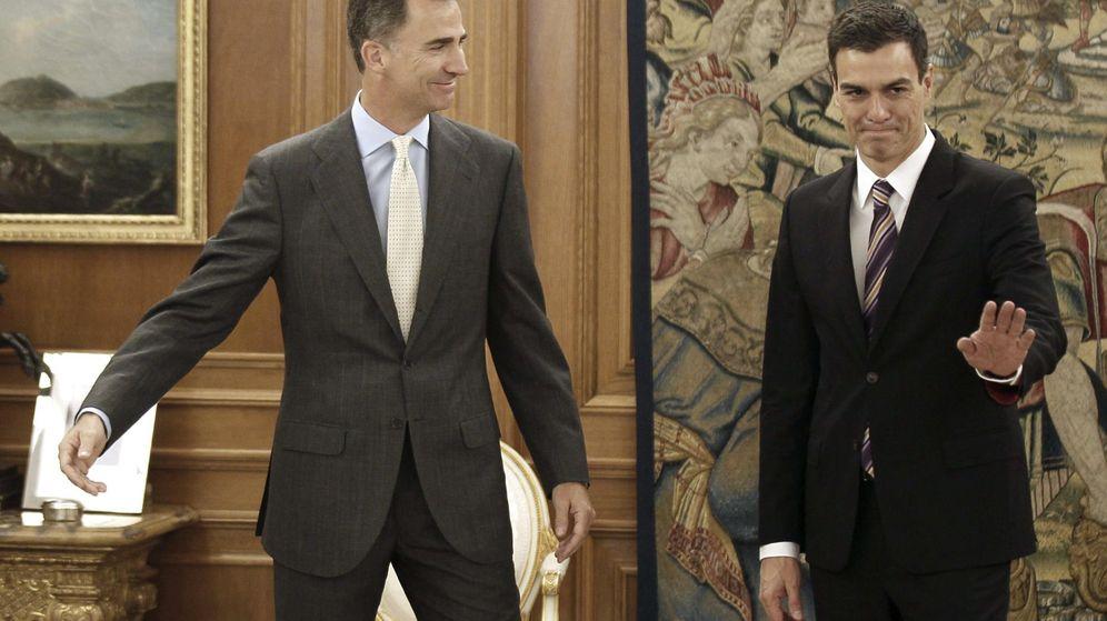 Foto: El Rey recibe a Pedro Sánchez. (EFE)