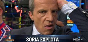 Post de Cristobal Soria pierde totalmente los papeles en 'El Chiringuito de Jugones'