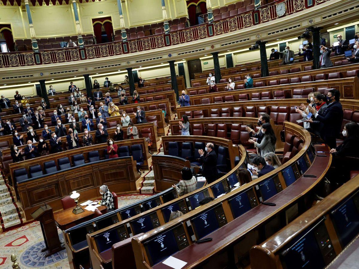 Foto: Vista del hemiciclo del Congreso de los Diputados. (EFE)