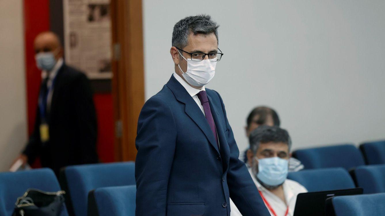 Foto: El ministro de Presidencia, Félix Bolaños, a su llegada a una rueda de prensa en el Palacio de la Moncloa. (EFE)