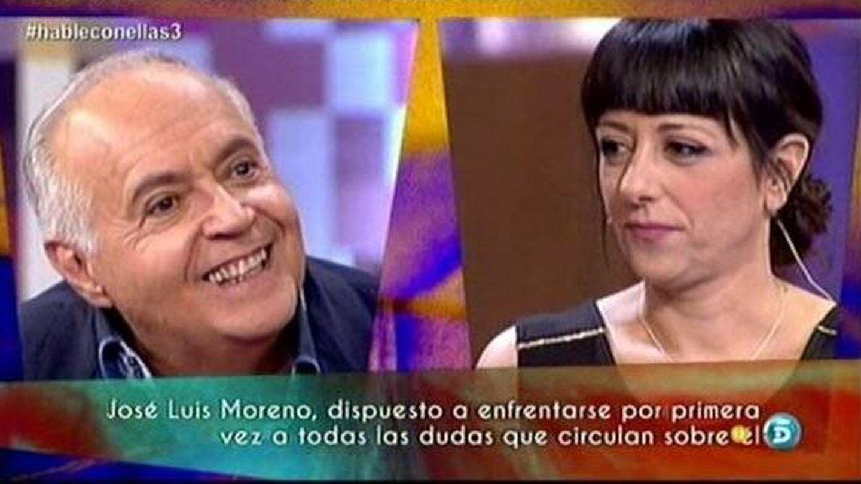 José Luis Moreno y Yolanda Ramos, en 'Hable con ellas'. (Telecinco)