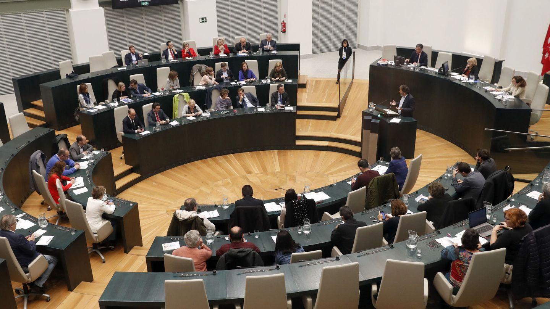 Vista general del pleno en el Ayuntamiento de Madrid. (EFE)