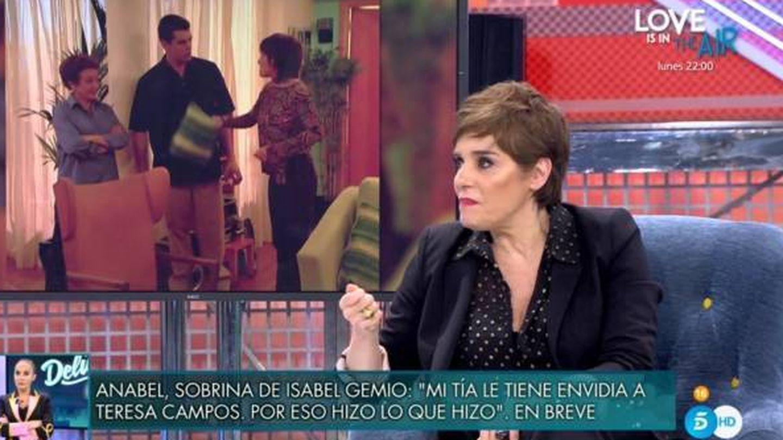 Anabel Alonso hablando de Cantó. (Telecinco).