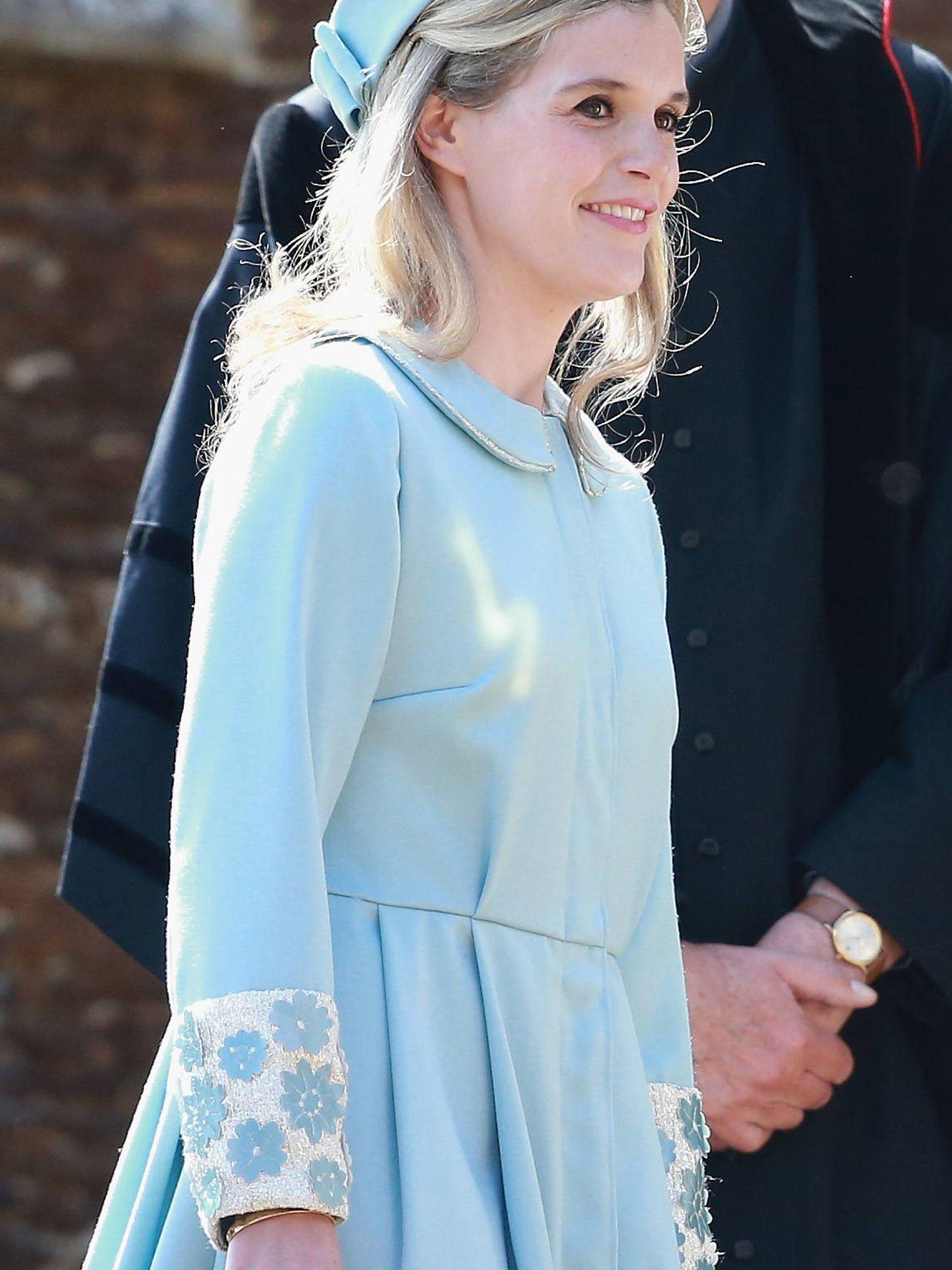 Sophie Carter en el bautizo de Charlotte de Cambridge. (Getty)