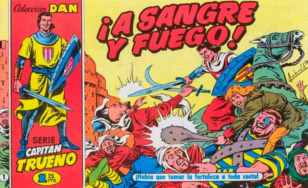 Foto: 'A sangre y fuego': primer número de 'El capitán Trueno'.