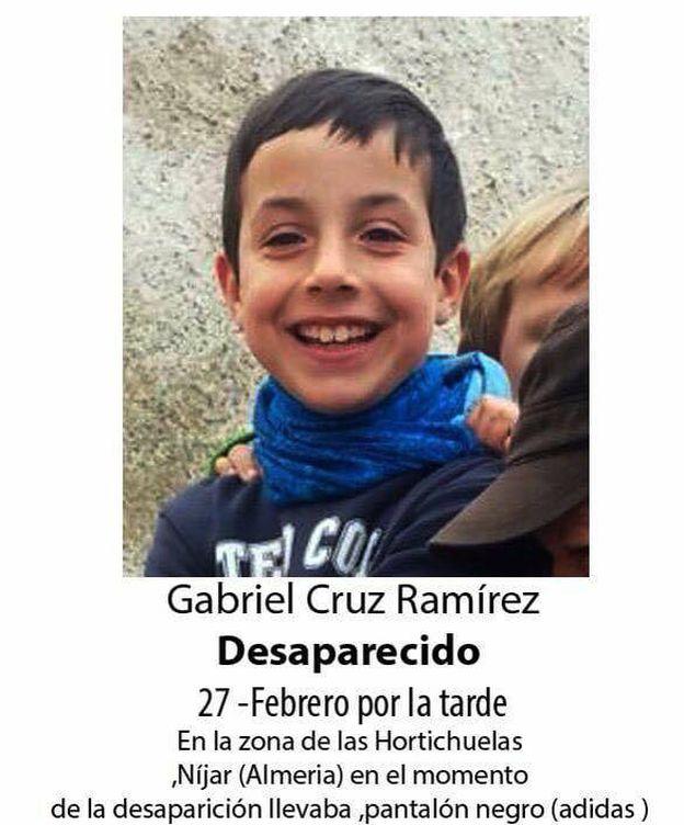 Foto: Gabriel, el niño de ocho años desaparecido en Almería.