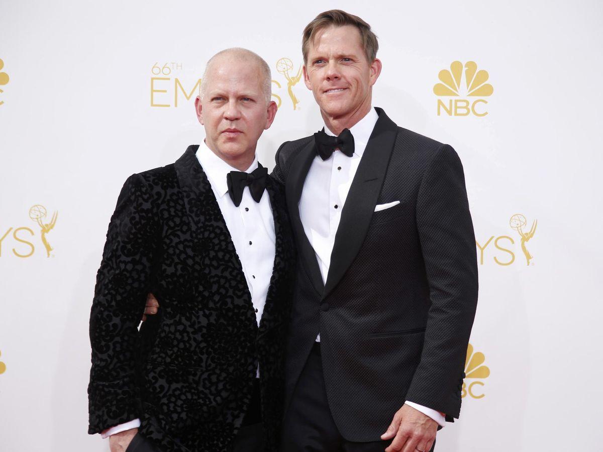 Foto: Ryan Murphy, con su marido, David Miller. (Reuters)