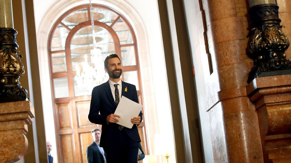 Foto: El nuevo presidente del Parlament, Roger Torrent. (EFE)