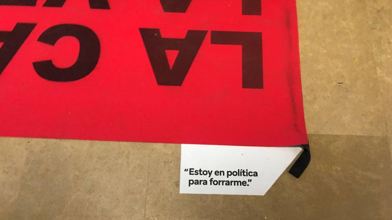 Imagen del 'museo de la corrupción' inaugurado por ERC. (A. Fernández)