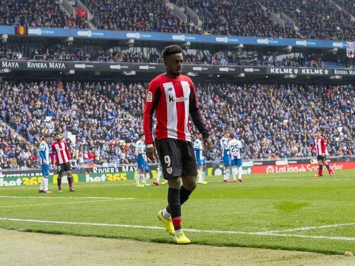 Foto: Iñaki Williams recibió insultos racistas tras ser sustituido en el Espanyol-Athletic. (Foto: Athletic Club)