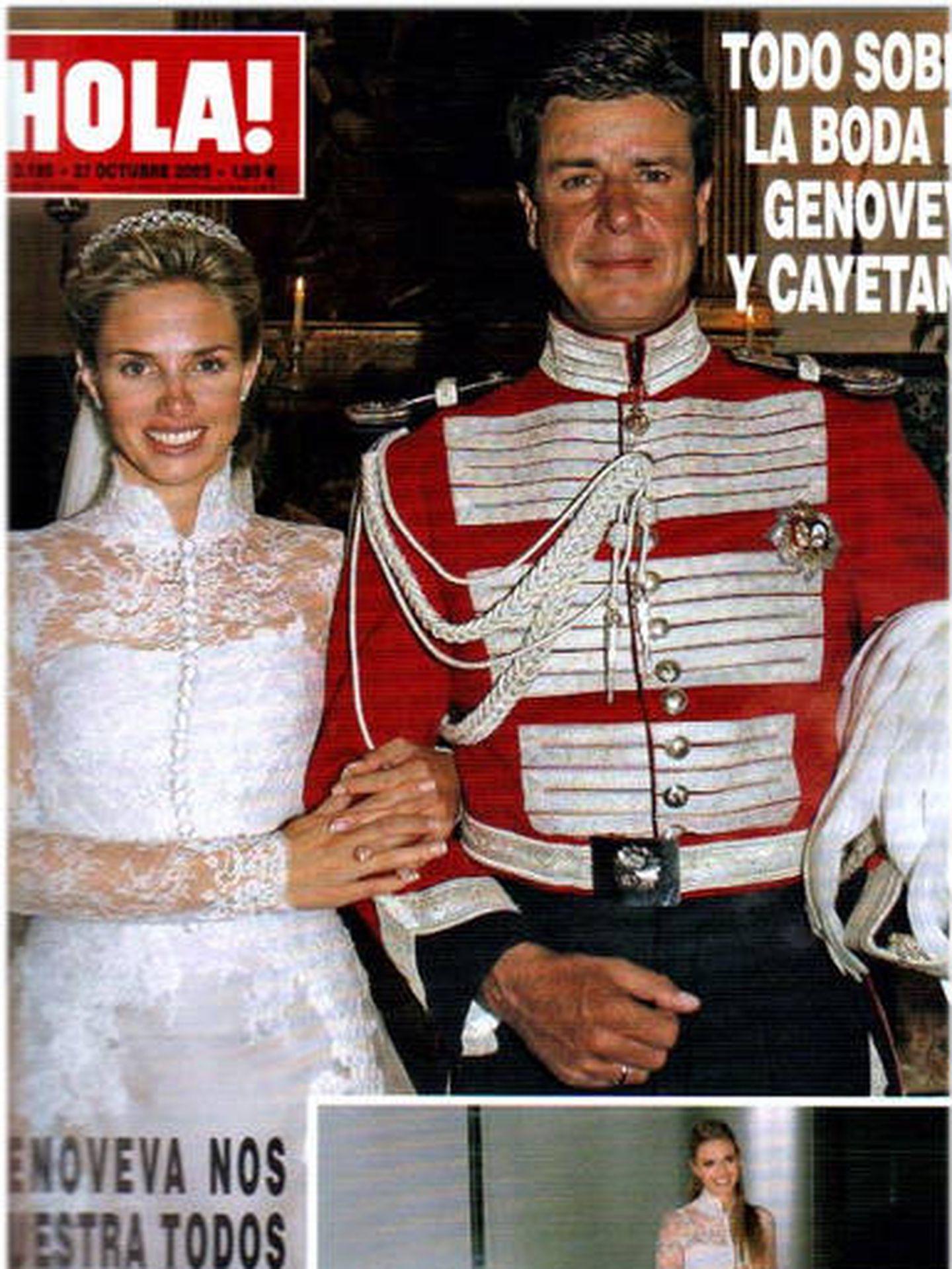 Portada de ¡Hola! de la boda de Genoveva y Cayetano. (Cortesía)