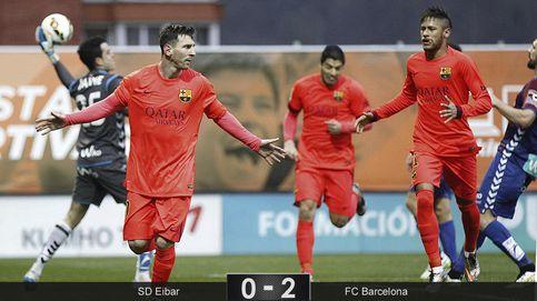 Un doblete de Messi ilumina a un Barça que llega embalado al Clásico