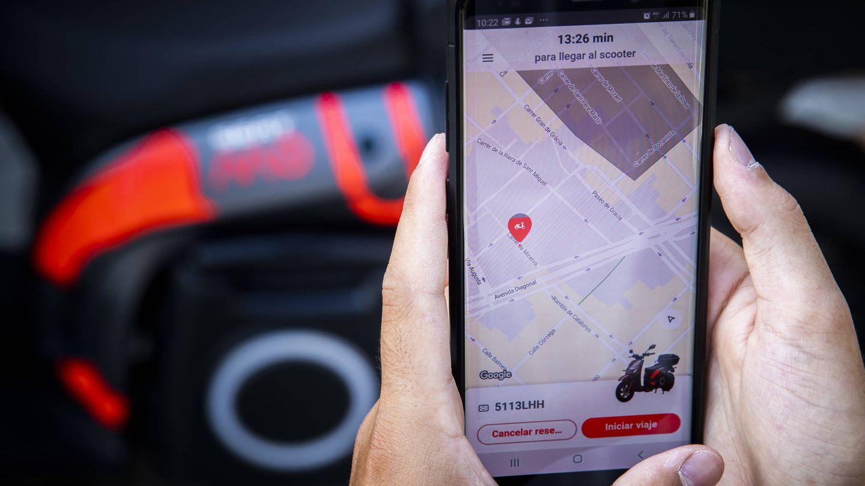 Con la aplicación se puede gestionar directamente desde el móvil el servicio motosharing.