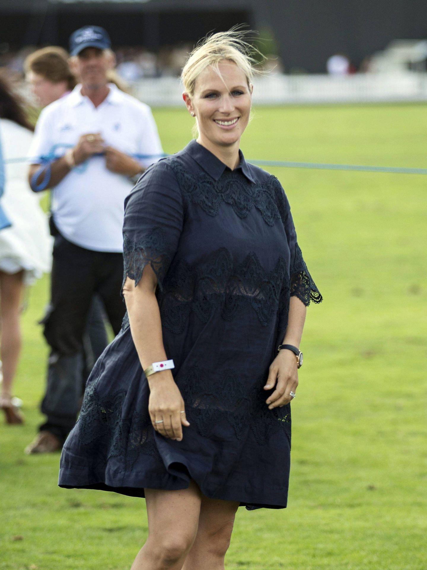 Zara Tindall en 2018, embarazada de su segunda hija. (Cordon Press)