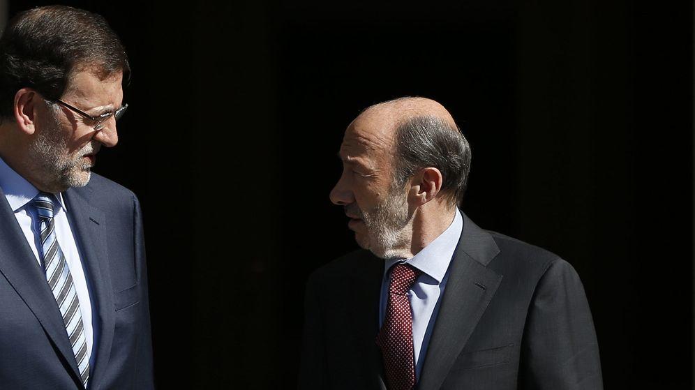 Foto: Fotografía de archivo de Mariano Rajoy y Alfredo Pérez Rubalcaba. (EFE)