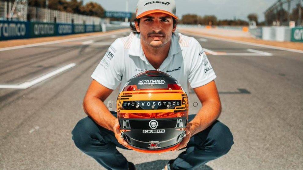Carlos Sainz recuerda a las víctimas del coronavirus y pilla a contrapié a la F1