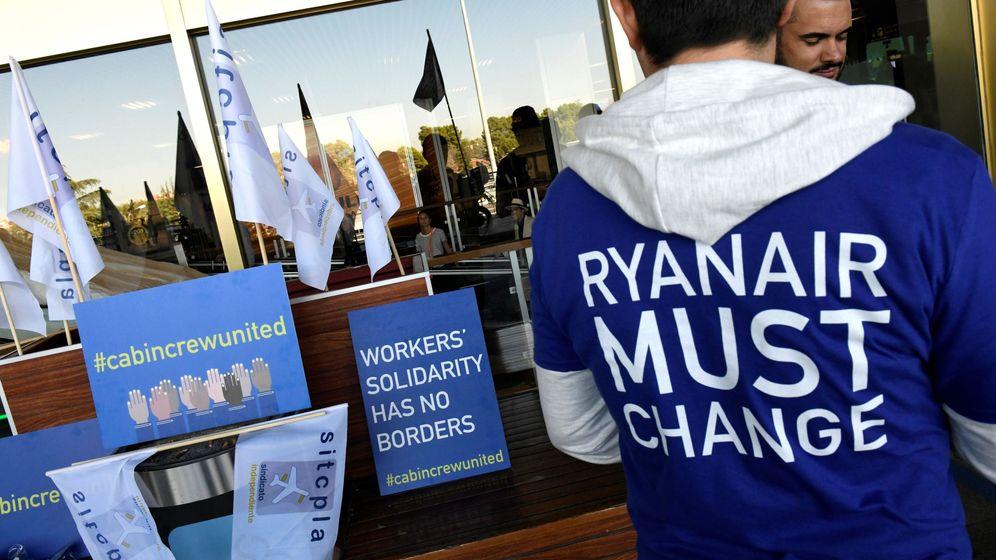 Foto: Huelga de los trabajadores de Ryanair (Efe)
