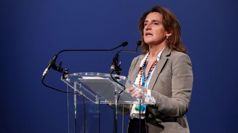 Teresa Ribera, durante su intervención en la Cumbre del Clima en Madrid. (EFE)