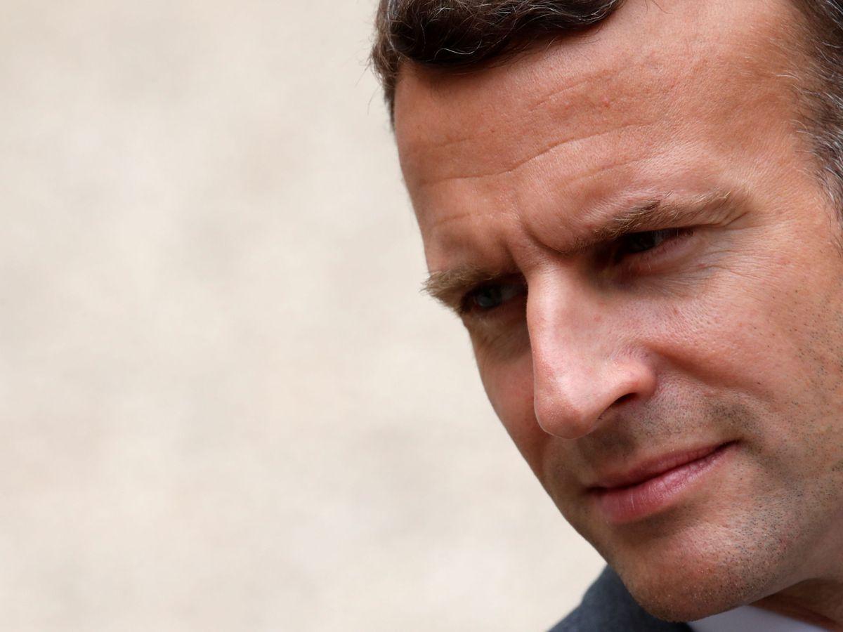 Foto: Emmanuel Macron, tras una reunión con el presidente de Argentina. (Reuters)