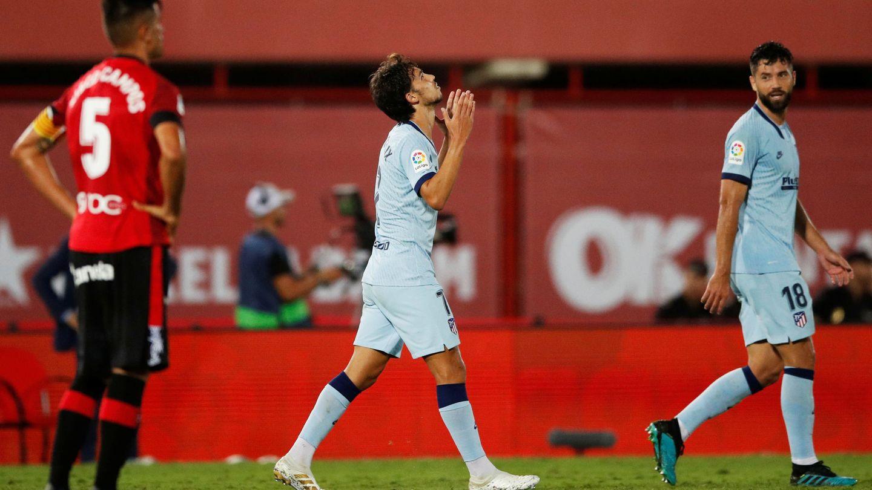 Joao Félix marcó el segundo gol del Atlético en Mallorca. (Reuters)