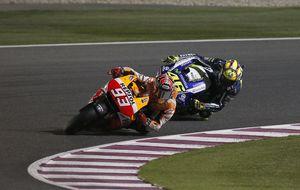 Marc Márquez se divierte con Rossi y el aprendiz mejora al maestro