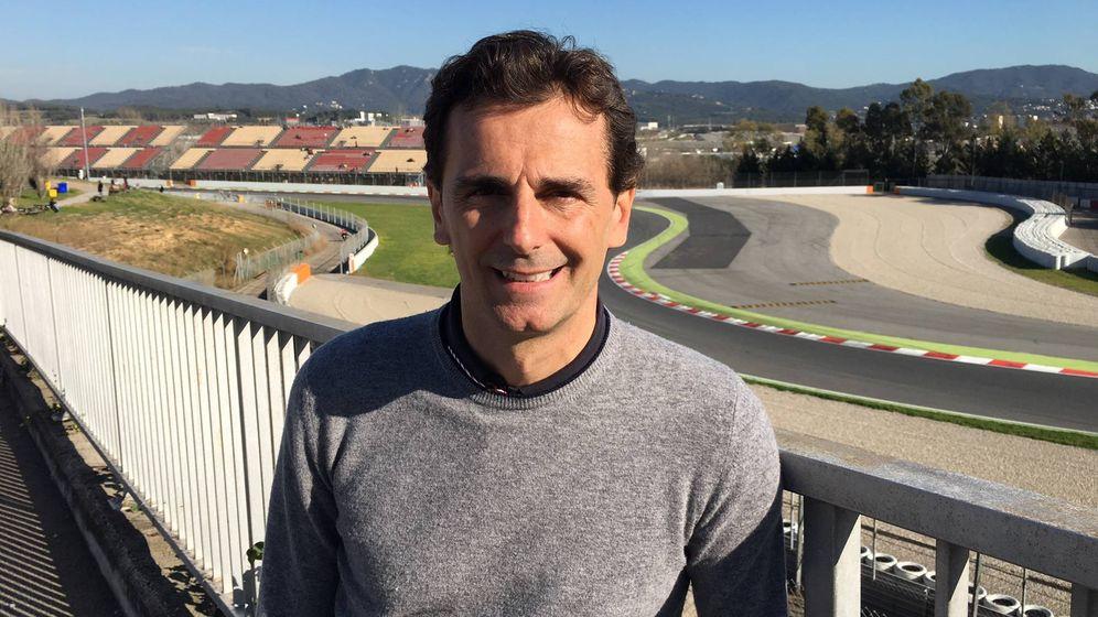 Foto: Pedro de la Rosa, este miércoles en el circuito de Montmeló.