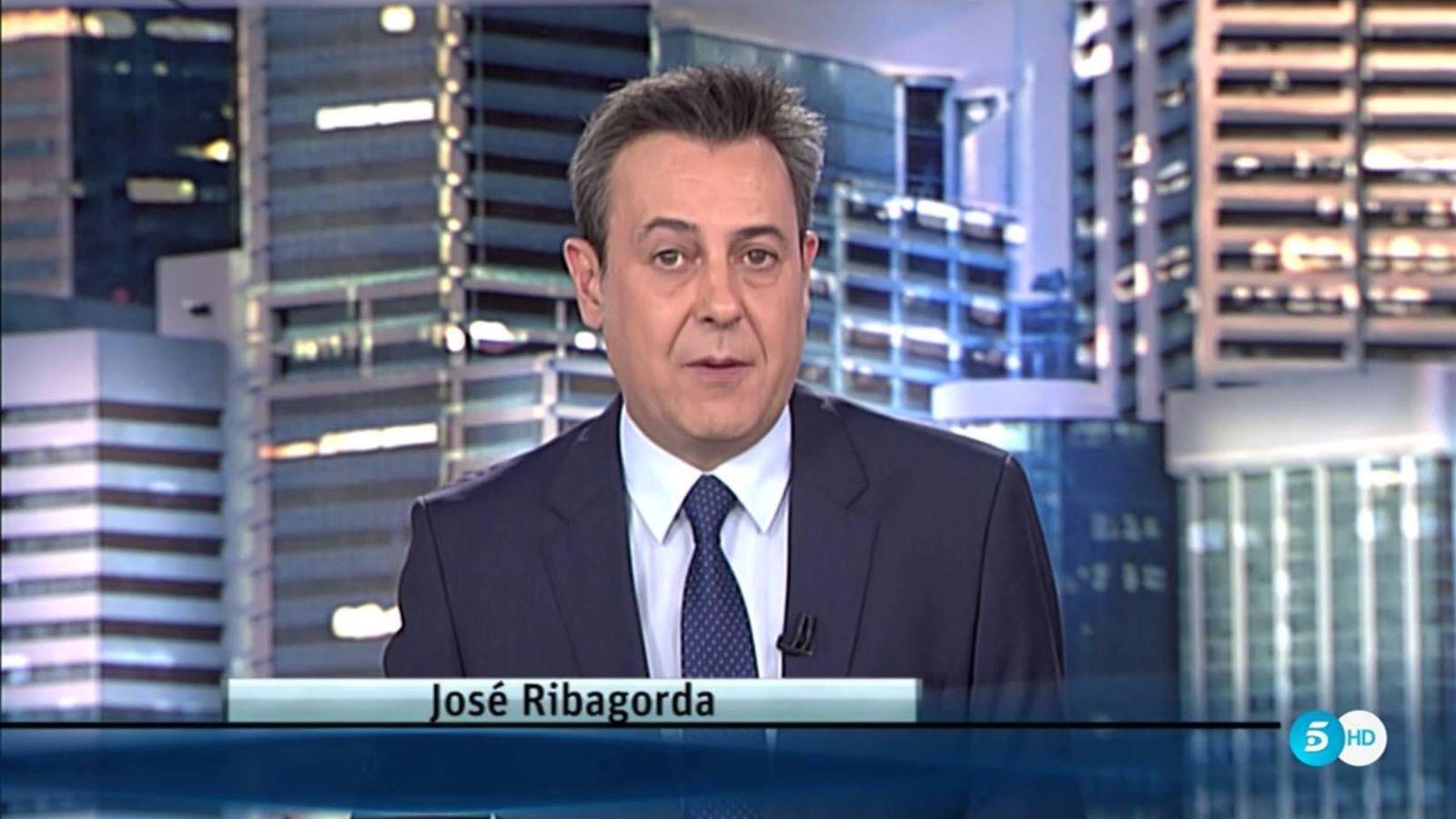 Foto: El presentador de 'Informativos Telecinco' José Ribagorda.