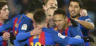 Post de El Barça rompe la maldición de Anoeta con aburrimiento antes de los tambores