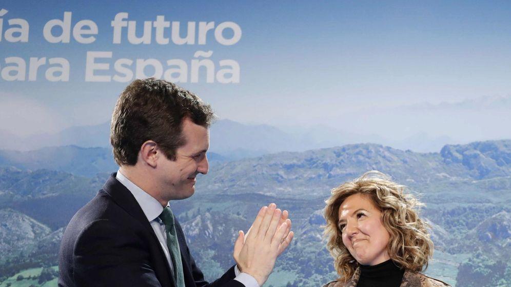 Foto: Pablo Casado y Teresa Mallada, el pasado 11 de enero. (EFE)