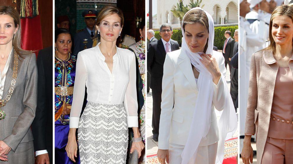 Los cuatro looks de Letizia en Marruecos